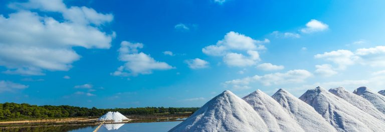 Mallorca Ses Salines Es Trenc Estrenc saltworks in Balearic Islands Spain shutterstock_266026676-2