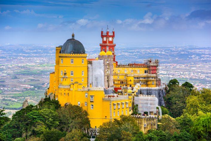 Palacio Nacional da Pena en Sintra paisaje