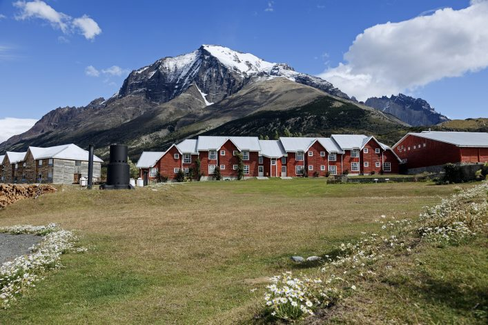 W route trekking start – Refugio Torres in Torres del Paine National Park shutterstock_141978604