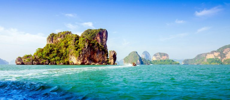 Amazing scenery of National Park in Phang Nga Bay
