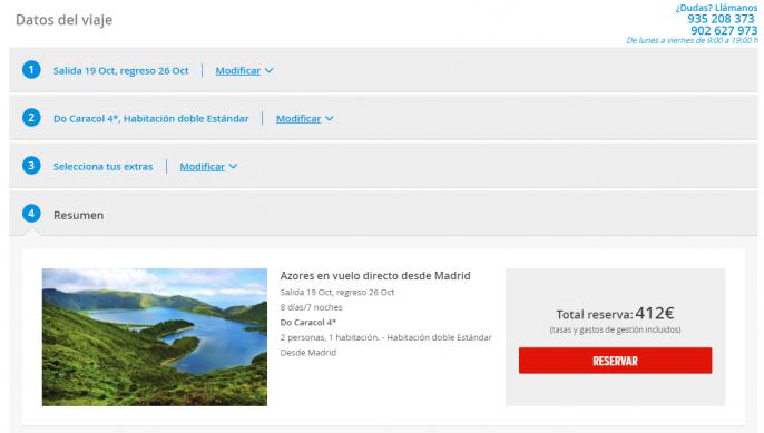 oferta a islas azores portugal