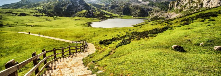 Lake Ercina,lakes of Covadonga,Asturias,Spain.