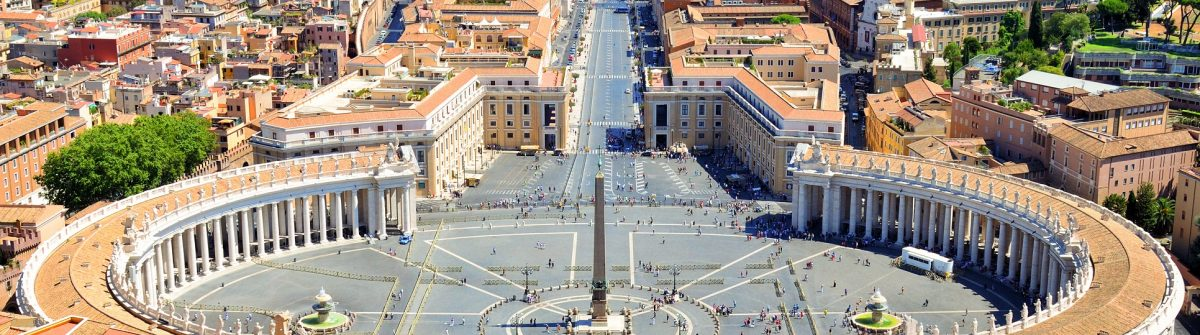 St. Peter's Square, Piazza San Pietro in Vatican City Rome Italy shutterstock_487367158