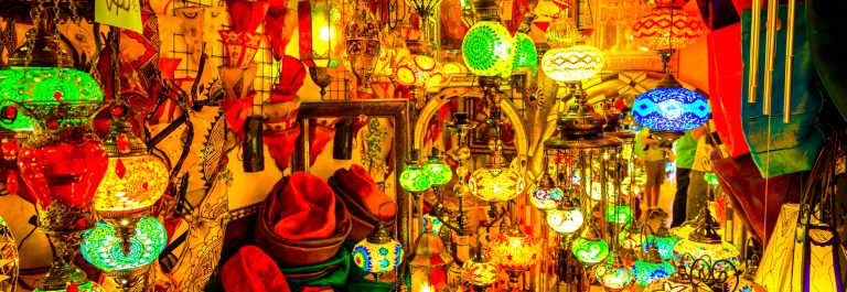 Arabic lamps and lanterns in the Marrakesh,Morocco
