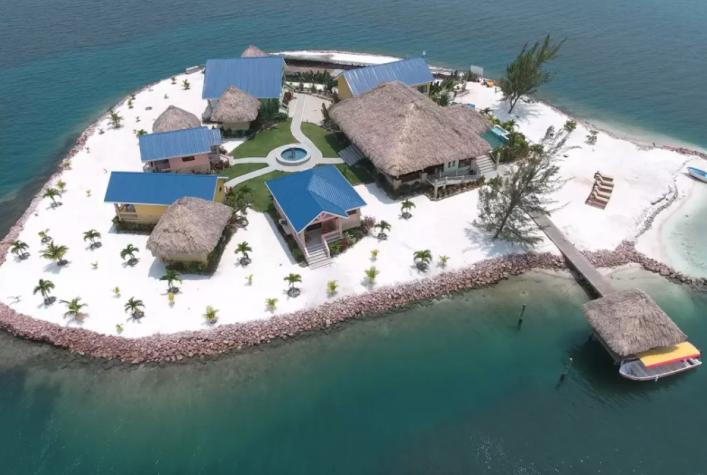 Isla privada en el Caribe