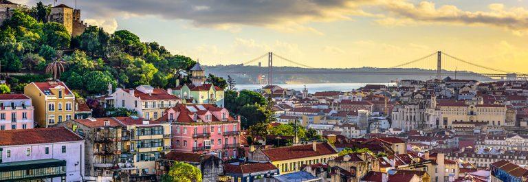 Lisbon, Portugal Skyline and Castle