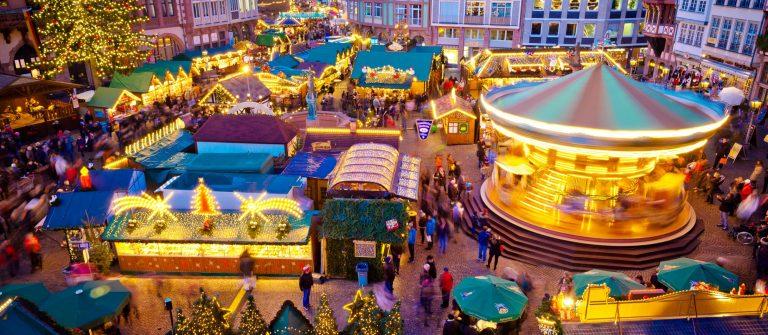 Christmas market in Frankfurt, Germany