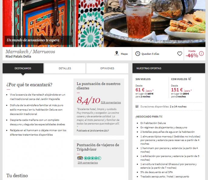 Oferta a Marrakech