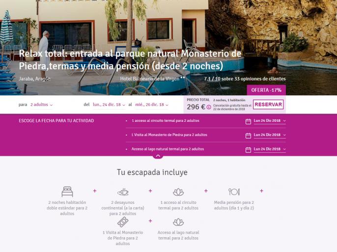 Hotel en Monasterio de Piedra