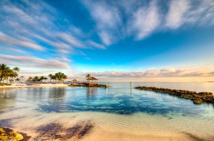 Morning in a Bahamas Beach