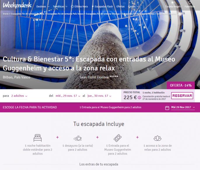 hotel de lujo en Bilbao país vasco