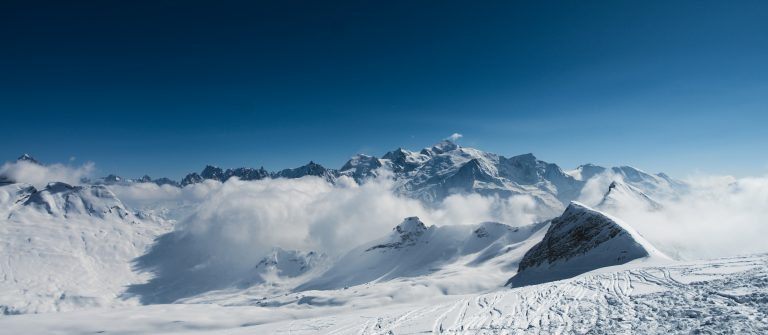 High winter mountains, Flaine ski resport, Alps_shutterstock_410750326