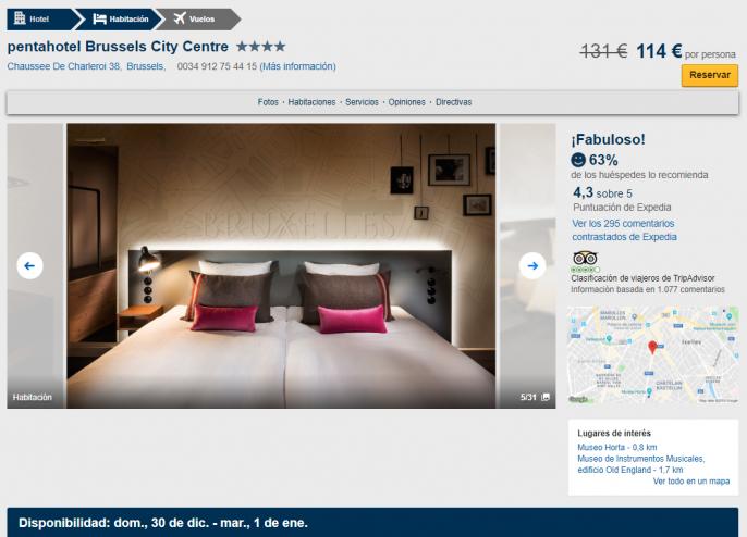 nochevieja en bruselas hotel