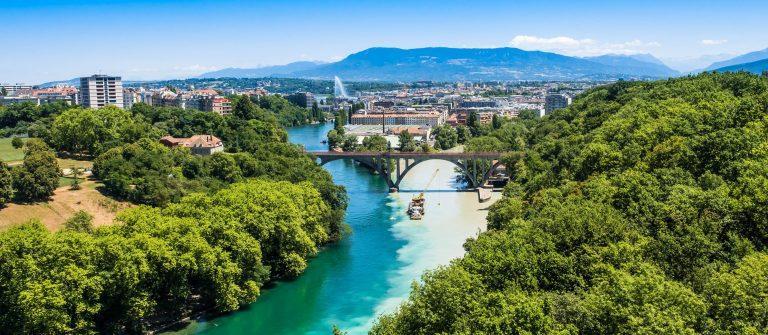 Aerial view of Geneva city in Switzerland shutterstock_295501208-2
