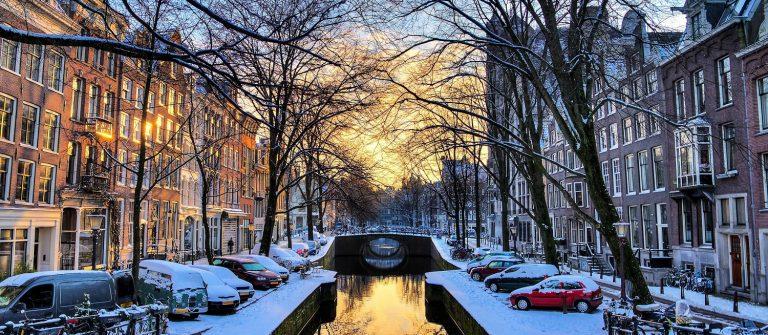 Amsterdam sunrise canal