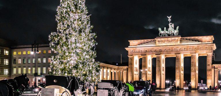 Brandenburg Gate at christimas in Berlin, Germany