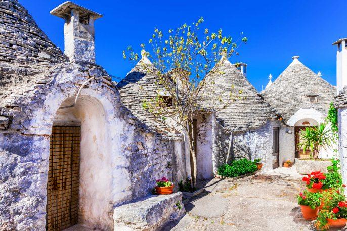 Impressive Alberobello,Puglia Italy.