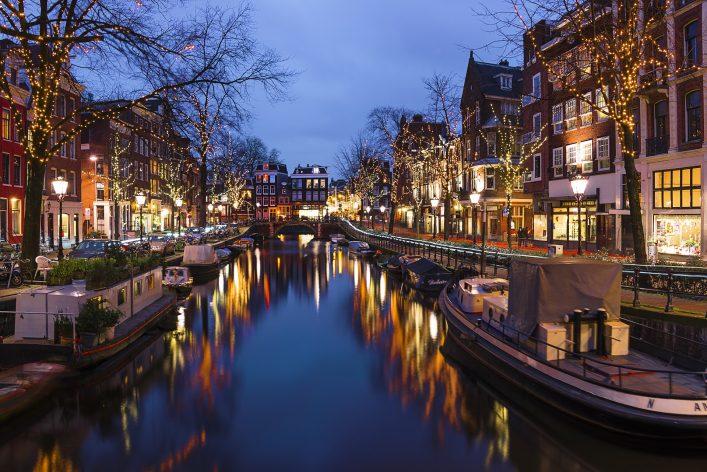 Amsterdam lights christmastime_ shutterstock_458001532