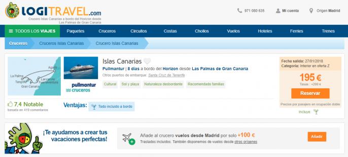 Crucero islas canarias con r gimen de todo incluido por - Ofertas canarias enero ...