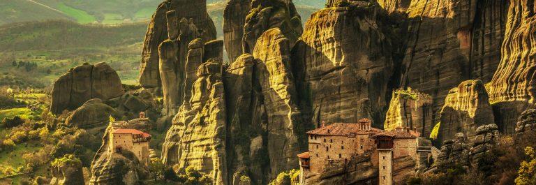 Meteora monasteries in Greece shutterstock_277585538-2