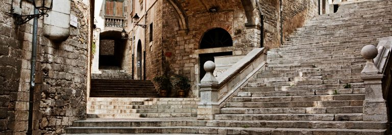 Old Staircase in Girona, iStock-612631704