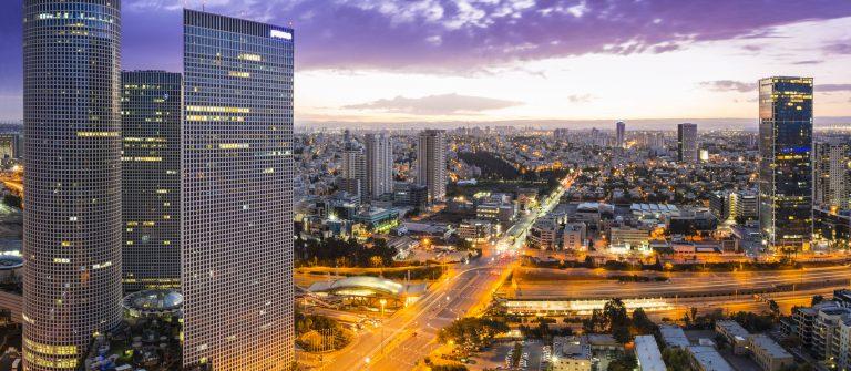 Tel Aviv city – View of Tel Aviv at sunset Out of Window shutterstock_224970538-2