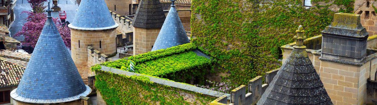 Towers of Palacio Real de Olite. Navarre, Spain_451940704