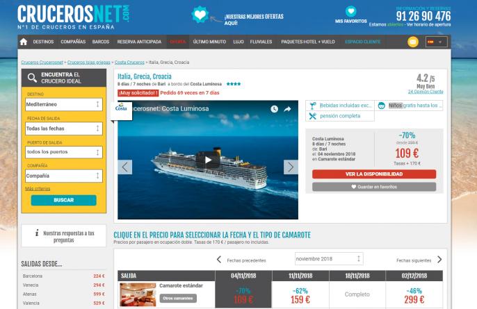 crucero por italia, grecia y croacia