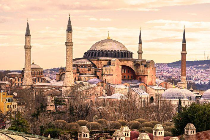 Hagia Sophia in Sultanahmet district, Istanbul. Turkey.