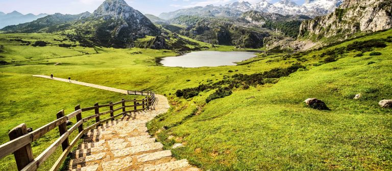 Lake Ercina,lakes of Covadonga,Asturias,Spain.