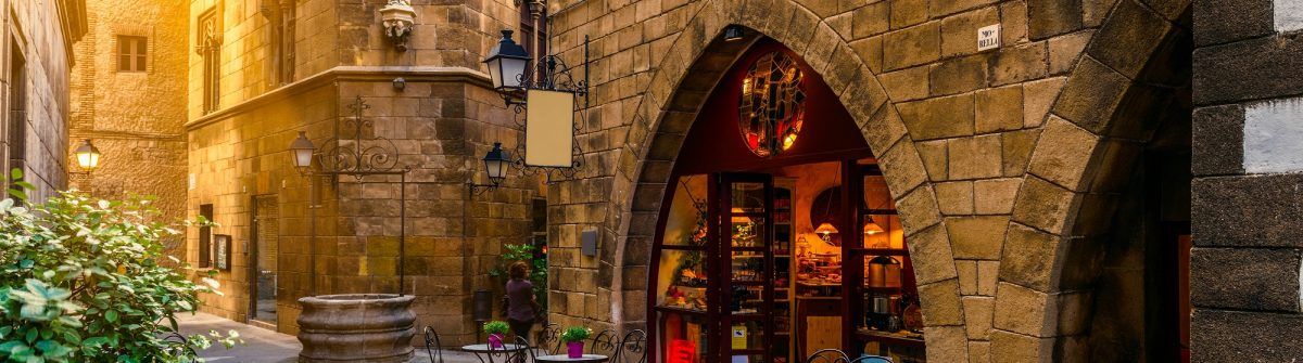 Poble Espanyol – traditional architectures in Barcelona, Spain shutterstock_292150208-2