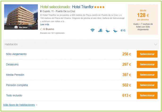 Vacaciones en tenerife con vuelos y hotel 4 por s lo 128 - Europcar puerto de la cruz ...