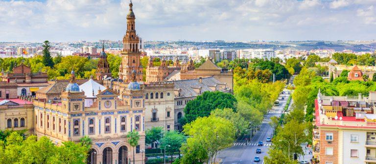 Aerial view of Sevilla