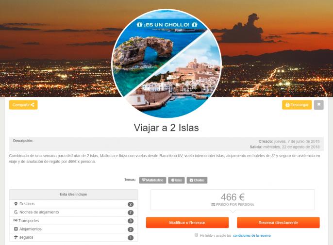 Vacaciones en Mallorca e Ibiza