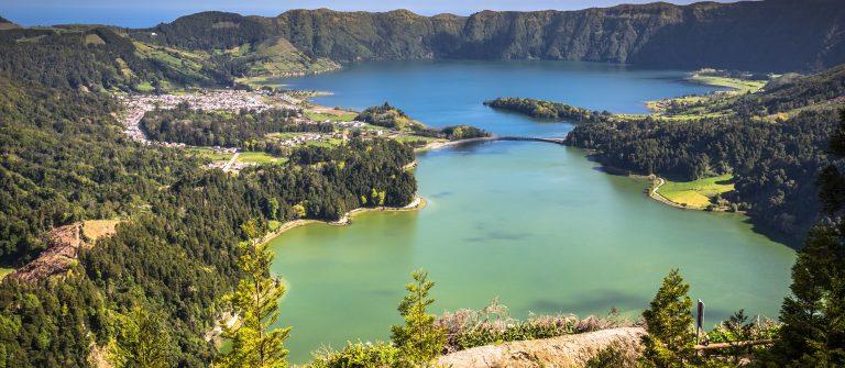 Lagoa Sete Cidades on Azores island_397977196