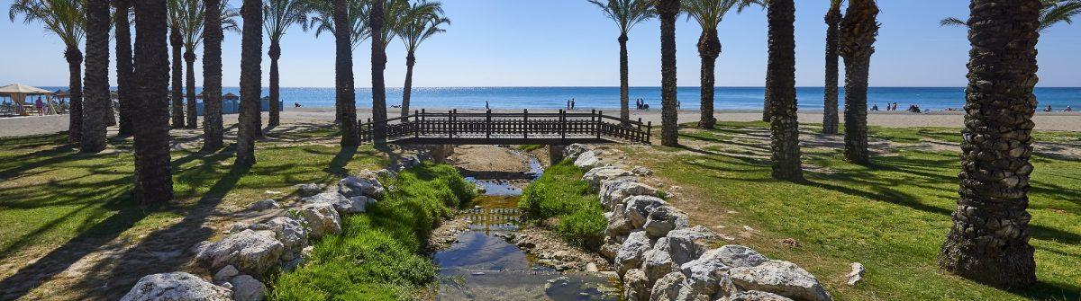 View of the beaches, Torremolinos, Costa Del Sol, Spain_446745544