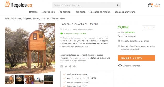 cabaña cerca de Madrid