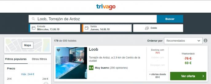 hotel romántico en Madrid