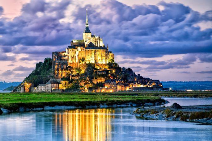 Mont Saint Michel Frankreich Normandie
