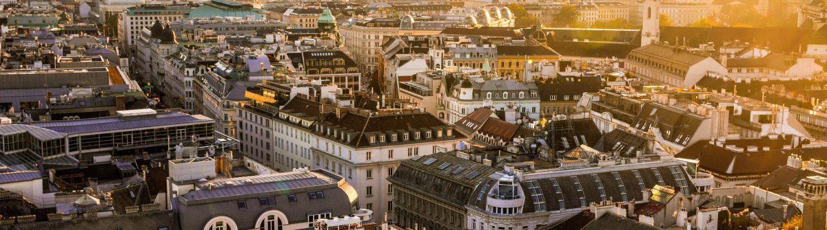 View Over Vienna City at Twilight from St Stephan's Cathedral shutterstock_517295080-2