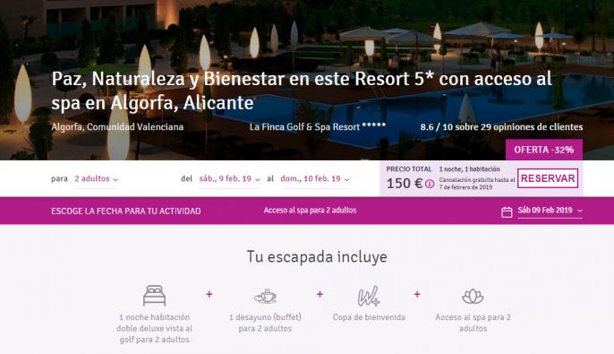 Oferta hotel costa Blanca