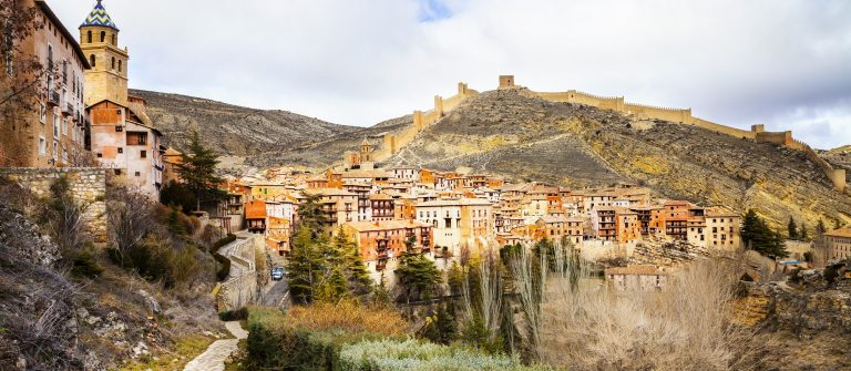 Albarracin – medieval terracotte village in Aragon, Spain_265363280