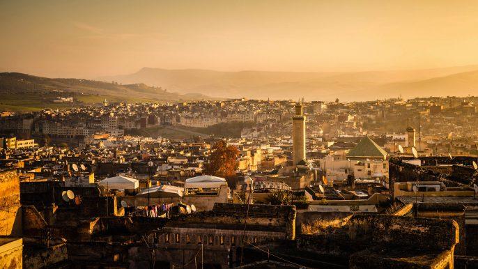 Panoramic view of Fez