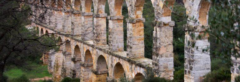 Pont del Diable (Pont de les Ferreres) of Roman Aqueduct, built in 27 BC – 14 AD, Tarragona, Spain