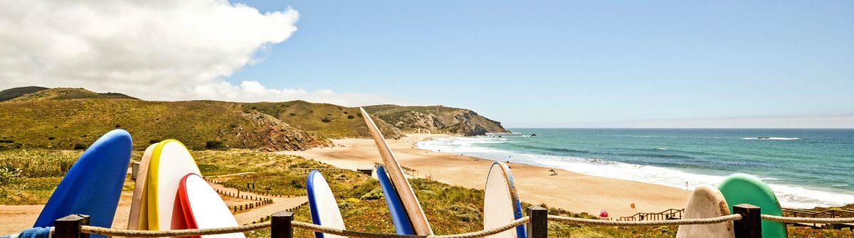 Praia do Amado, Beach and Surfer spot, Algarve Portugal iStock_000058548330_Large-2