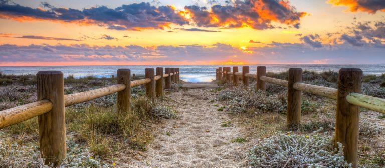 Sunset beach in Gabo de Gata, Almeria, Spain. -This photo made by hdr technic_216622546