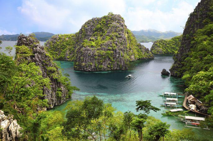 landscape of Coron, Busuanga island, Palawan province, Philippines iStock_000050119154_Large