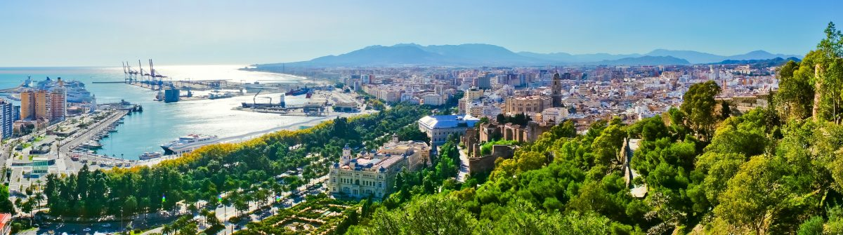 Beautiful panorama view of Malaga city, Spain_shutterstock_153487934 – Copy
