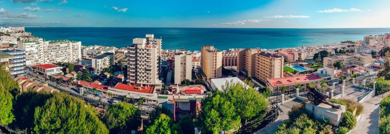 Beautiful view of Torremolinos coast. Malaga, Spain_214060525