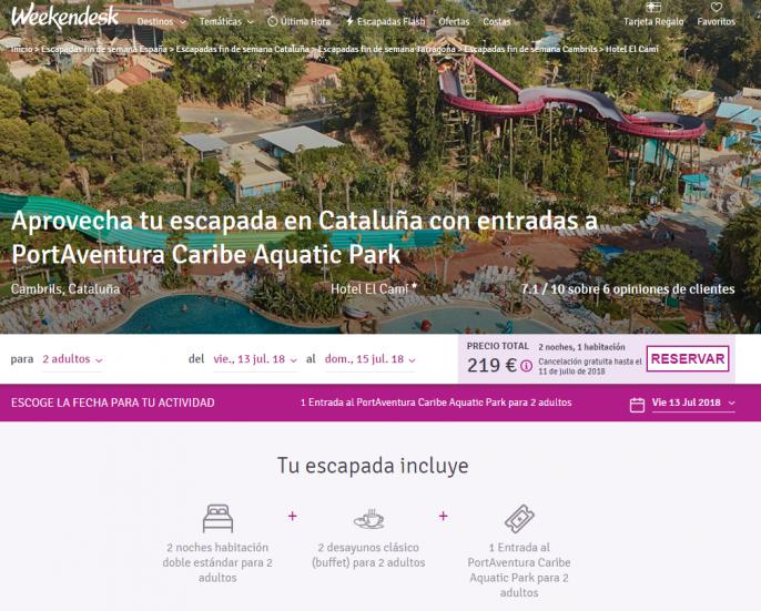 cambrils + portaventura caribe aquatic park